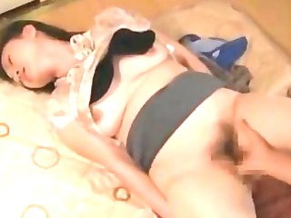 grown-up chick into skirt fingered and fucked by