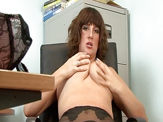 sweet mature assistant filled style pantyhose
