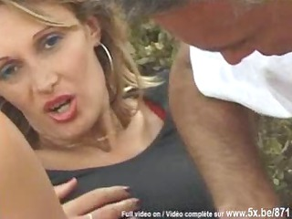 french chick sodomized in outside