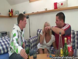 partying guys lure old in three pairs
