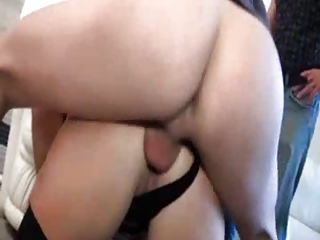 sophie, older gangbanged in nylons