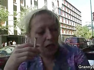 granny old is gangbanged by an inexperienced