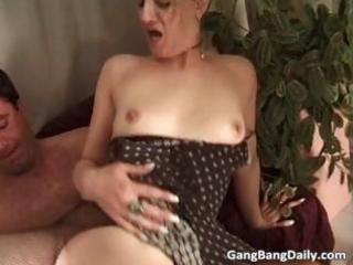 dirty albino girl caught into hardcore