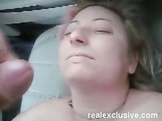 facial for my wife serena inside our car