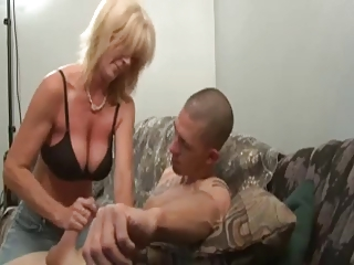 nice woman stroking guy