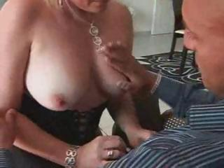 short-haired blonde french bimbo milf boinks a