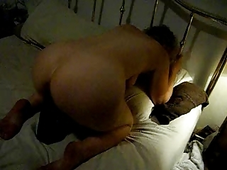 wife with huge brown dildo up her