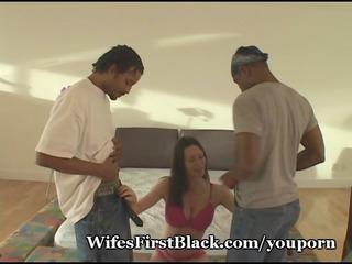 woman fulfills fuck urge with 2 blacks