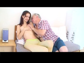 small tittted babe acquires drilled by mature boy