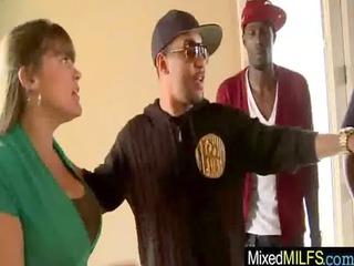 milf obtain gang-banged uneasy by black libido