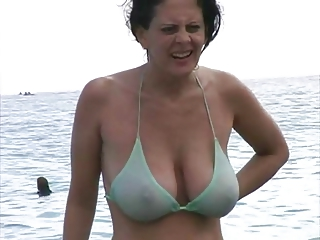awesome milf inside bikini at the seaside