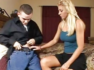 cock adoring bleached milf with large knockers