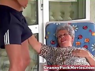 old eva licking hard young cock