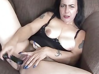cougar inexperienced has a large orgasm