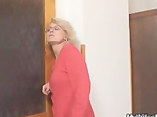 mother in law fucks him and his girl comes in