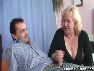 granny takes two dicks at once