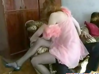 slutty russian mature babe with her sons lover