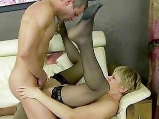 granny drilling her more juvenile friend