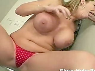 grown-up woman with huge chest deepthroats and