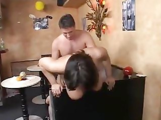 fat woman enjoys cock