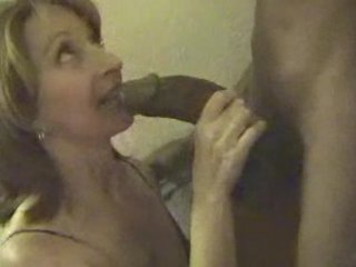 mature slut deepthroats very big brown penis