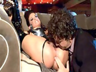 horny woman fucking in thigh high boots and gloves