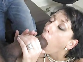 randy brunette momma with large hooter sucks