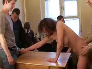 russian chick going naked and piercing 6 boys!!!
