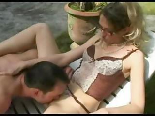 horny, grownup french angel bangs her gardener