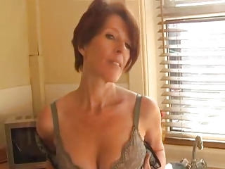 milf inside stockings fist