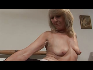 woman into white punish and pantyhose fist