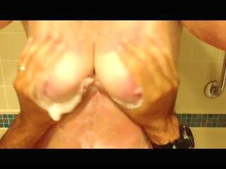 amature bbw films boy slapping her tits inside