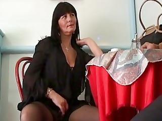 naughty grownup brunette seduces cu...