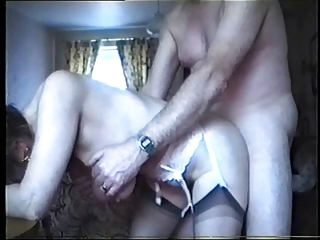 saggy tits - elderly drilled from behind
