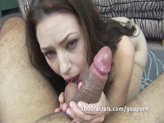 woman sarah shevon slobbers on dick and acquires