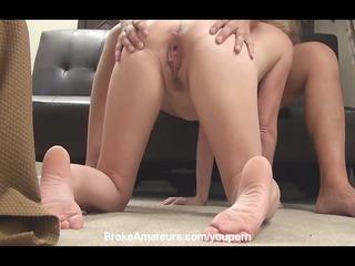 amateur slut primary timer gets a white cream