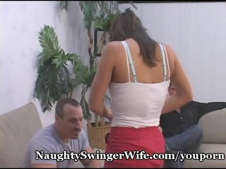 hubby surprised by swinger babe