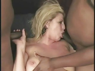 hot older albino grown-up anneke obtains two bbc